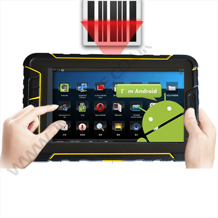 Android industrial tablet IP67 with built-in barcode scanner 4G wifi bluetooth GPS camera
