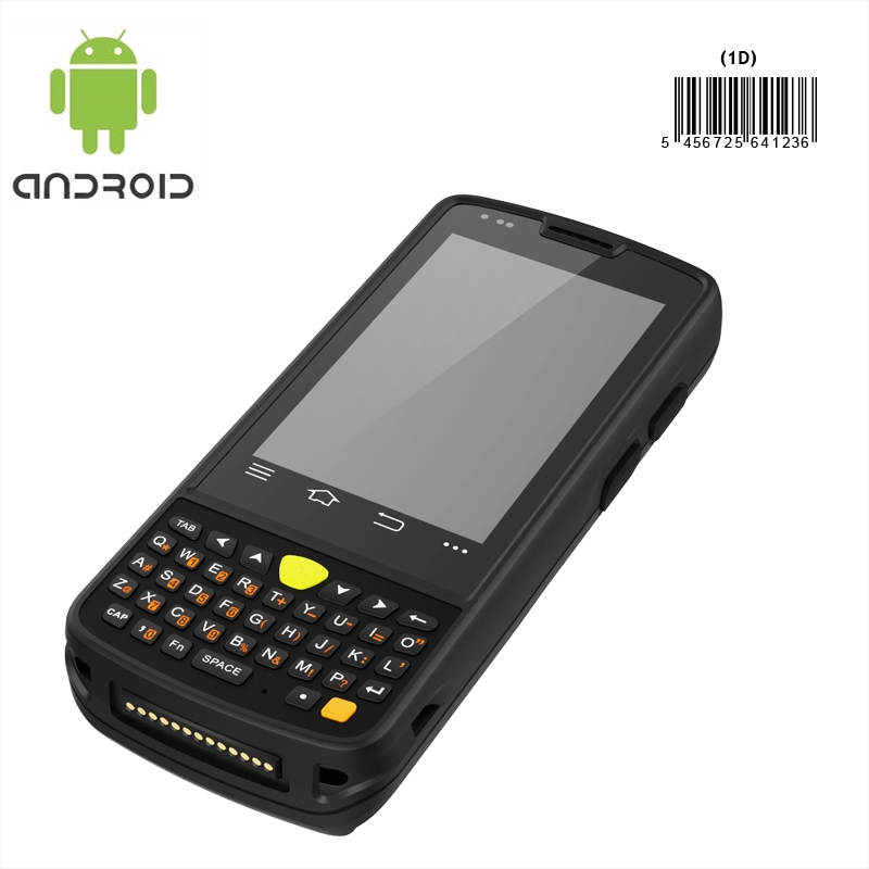 Rugged mobile device with Android 4.4 scans 1D barcode IP65 rating waterproof and extremely rugged with sunlight readable screen.