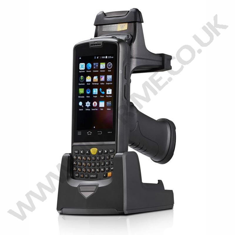 docking cradle option and also pistol /gun grip with built in battery for extra long usage