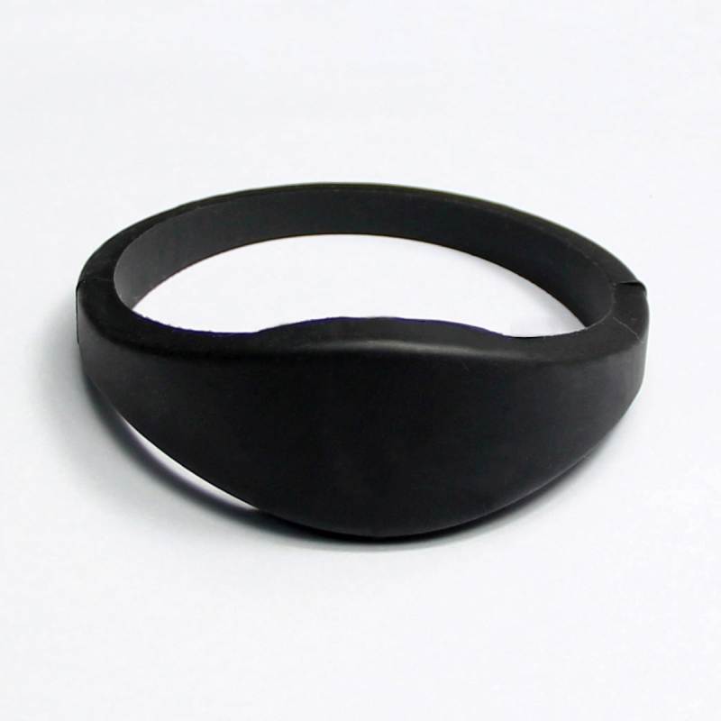 RFID 13.56mhz silicon wristband Black colour
