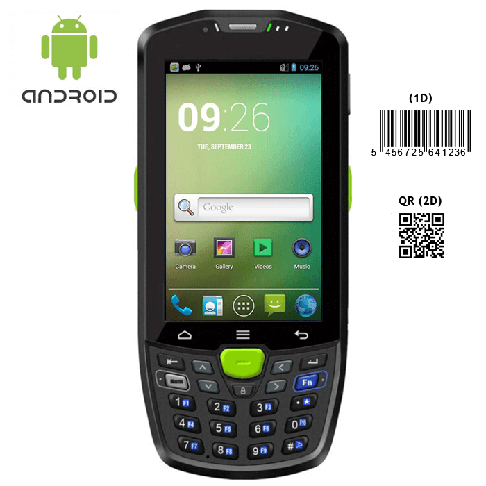 Rugged android 4.4 2D barcode scanner IP67 handheld terminal with wifi bluetooth 3g GPS camera
