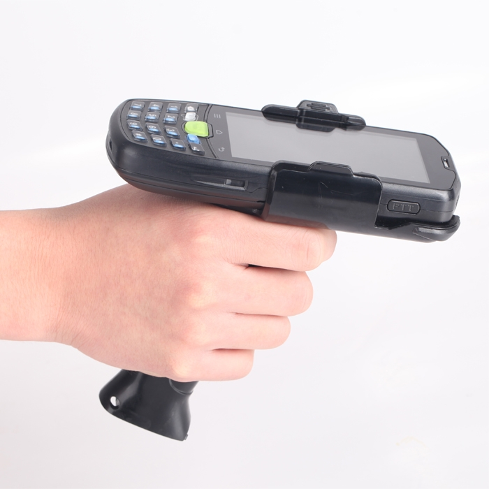 Android Barcode Scanner With Gun Grip Rugged Handheld Ip67
