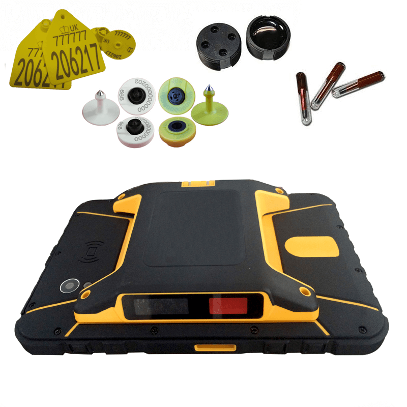 134.2khz LF android 5.1 rugged tablet with 4G wifi bluetooth GPS camera for animal tracking