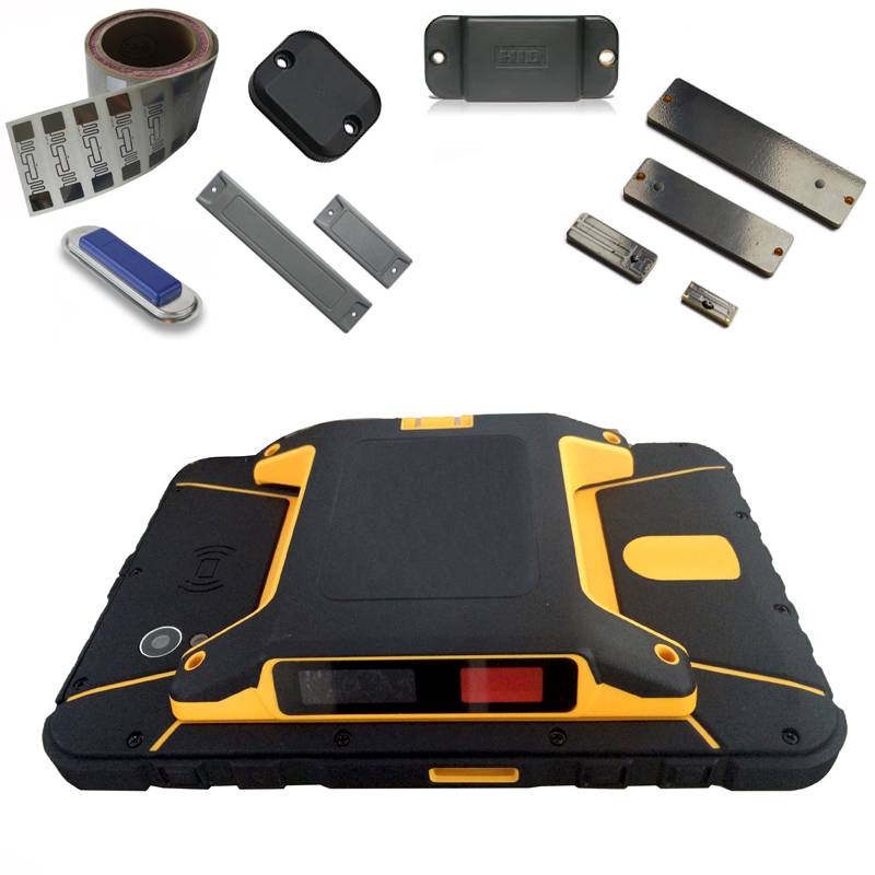 UHF Android rugged tablet with 5 meter UHF scanning NFC 4G wifi bluetooth GPS camera for asset tracking