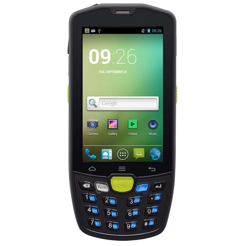 Android 4.4 handheld with 1D barcode scanner wifi Bluetooth gps gprs 3g camera NFC RFID scanning