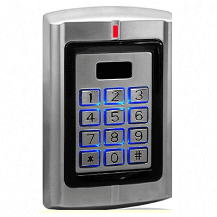125khz access control readers reads EM4001 waterproof and vandalproof proximity keypad reader