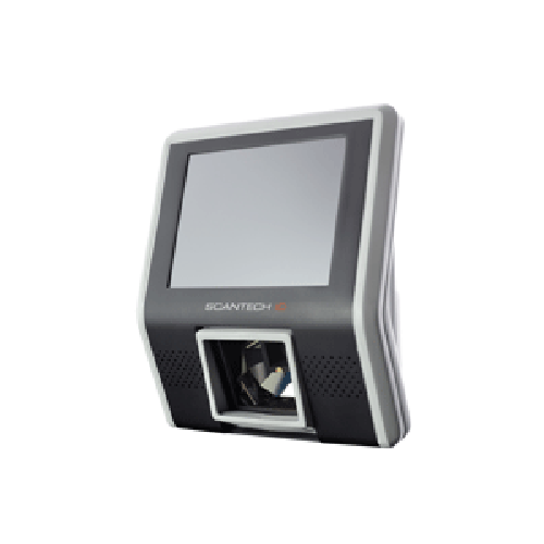 SK50 5.7 inch touch screen price checker or access control with 1D or 2D barcode reader, NFC reader, turnstile (gate control), USB connection, colour display.