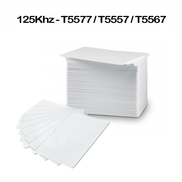 Proximity rewrite RFID contactless LF T5577 printable prox cards for access control (pack of 10)