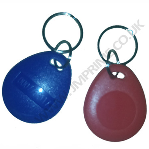Keyfobs available in Blue, Red, Black, Yellow and grey