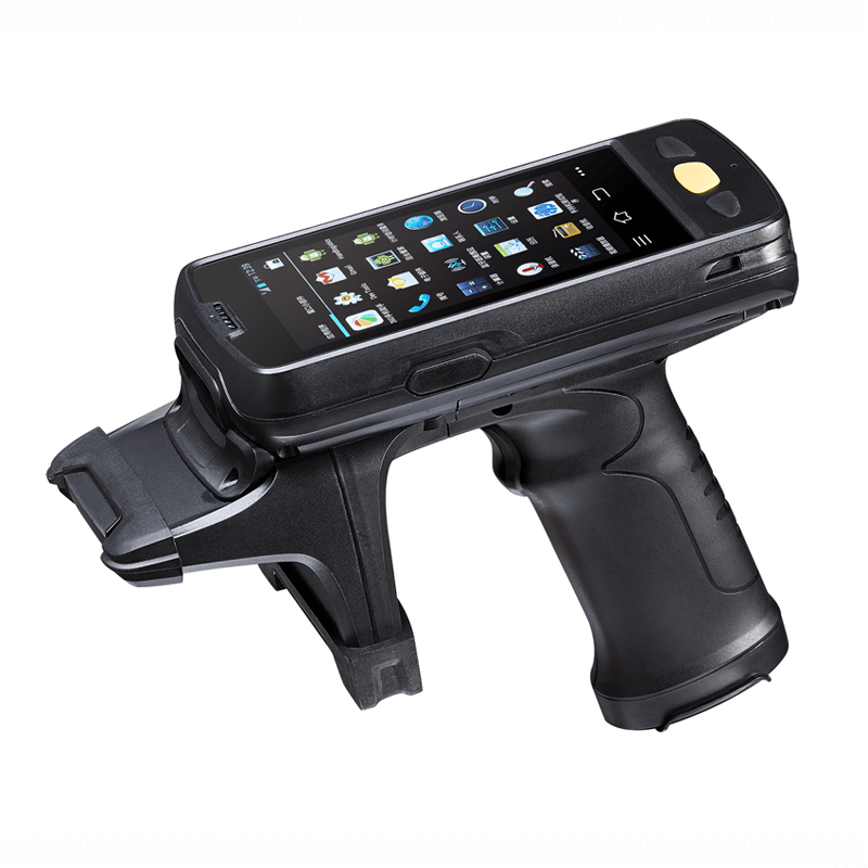 Rugged mobile device with UHF tags bin tags Rfid scanner IP65 rating waterproof and extremely rugged with IPS screen.