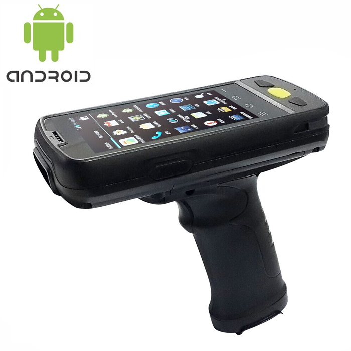 Rugged mobile device with 134.2khz animal tags, bin tags Rfid scanner IP65 rating waterproof and extremely rugged with IPS screen.