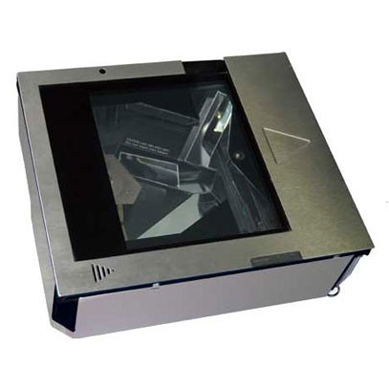 Metal housing horizontal flat scanner for retail environment
