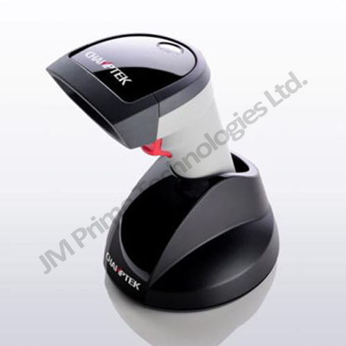 1D and 2D wireless barcode scanner with charging cradle and available in usb, serial (RS232) and keyboard wedge (PS2)