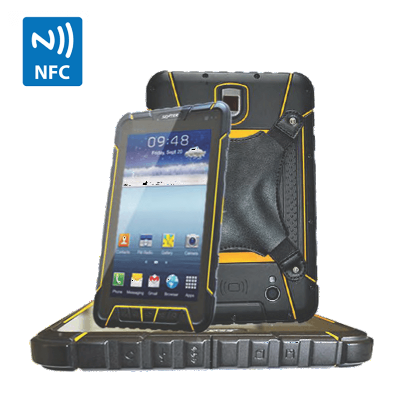 NFC Android rugged waterproof tablet with RFID 13.56mhz ISO1443A 4G wifi bluetooth GPS camera