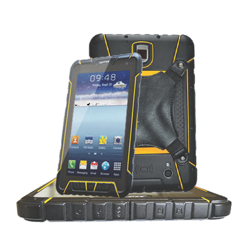android rugged tablet with 1D barcode scanner 4G wifi Bluetooth GPS