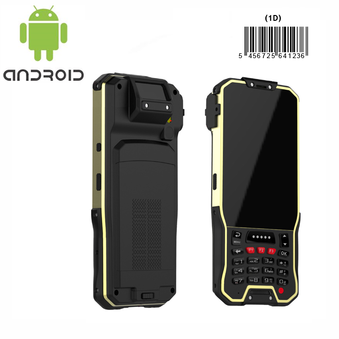 Barcode reader handheld 1D laser scanner Android5 1 device with 4g