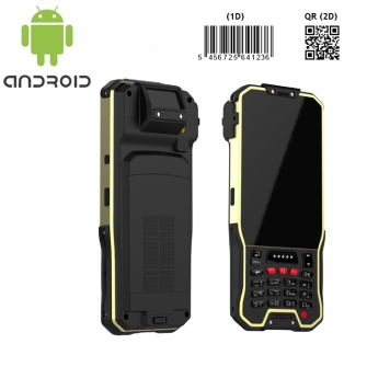 Android handheld with 1D/2D barcode scanner wifi Bluetooth gps gprs 4g with camera and optional NFC 13.56mhz rfid ISO1443A/B and ISO15693 reader writer