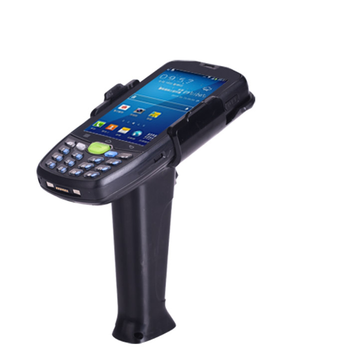 JM9+ with gun grip for fast and accurate scanning ideal for warehouse and retail