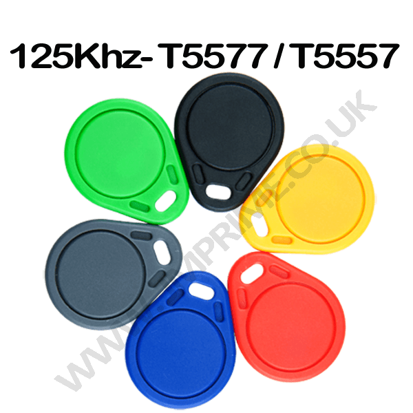 T5557 T5577 T5567 125khz LF rewritable proximity rfid access control keyfobs (pack of 10)