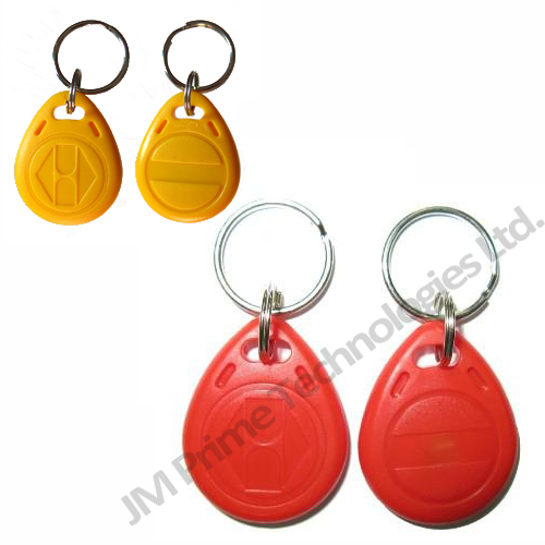 Keyfobs available in Blue, Red, Black, Yellow, orange, green, purple and White