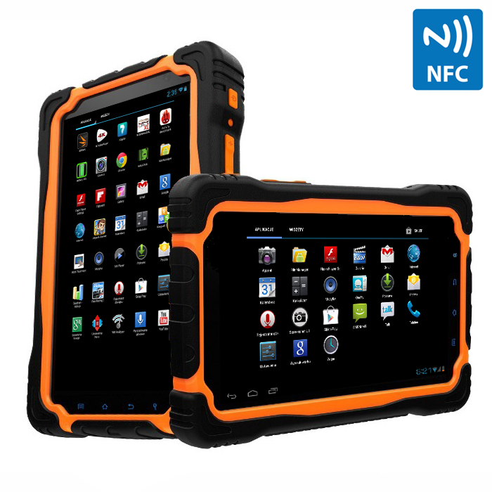 7 inch quad core tablet with rugged waterproof IPS screen, NFC, 3G, Wifi, Bluetooth, GPS and camera with Android 4.2