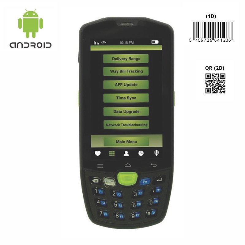Android 5.1 barcode scanner device with pistol grip 4G NFC wifi bluetooth camera GPS rugged IP67