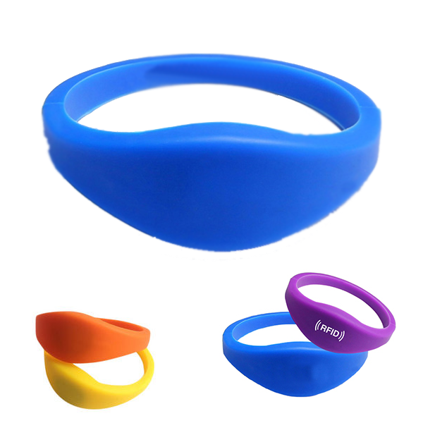 1K MIFARE 13.56mhz ISO14443A S50 rfid silicone waterproof wristbands (pack of 10)